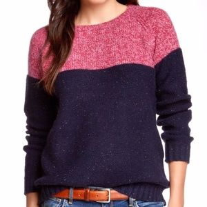 Trovata Sweaters - Trovata Color Block Wool Blend Crew Neck Sweater
